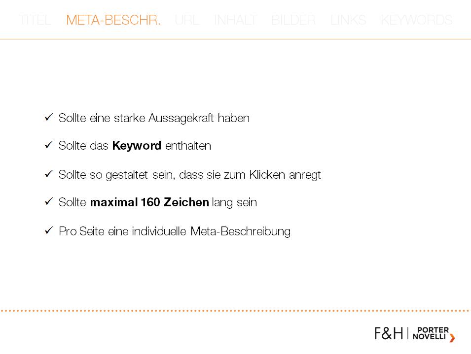 SEO Meta Description Keyword